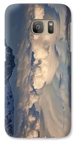 Galaxy Case featuring the photograph Eastern Storm At Sunset - Phone Case by Gregory Scott