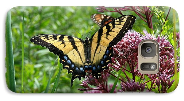 Galaxy Case featuring the photograph Eastern Tiger Swallowtail On Joe Pye Weed by Neal Eslinger