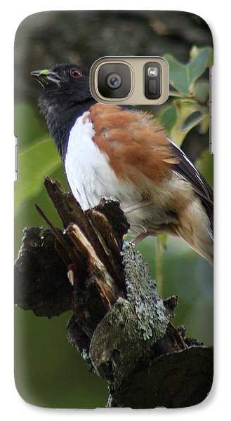 Galaxy Case featuring the photograph Eastern Towhee by Anita Oakley