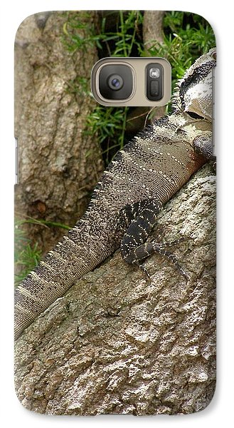 Galaxy Case featuring the photograph Eastern Water Dragon by Bev Conover