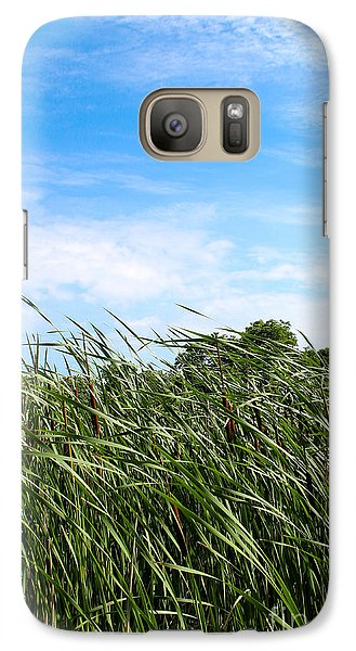 Galaxy Case featuring the photograph Easy Breezy Cattails by Anita Oakley