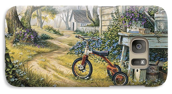 Galaxy Case featuring the painting Easy Rider by Michael Humphries