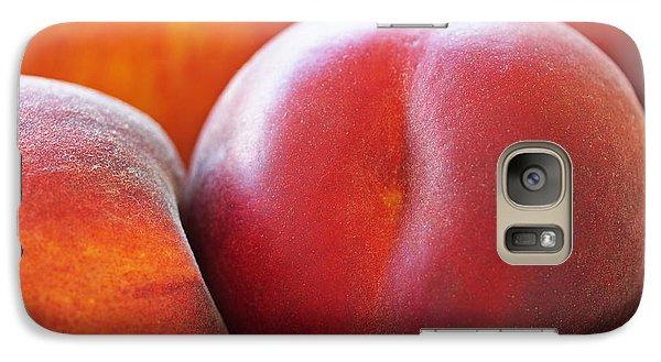Peach Galaxy S7 Case - Eat A Peach by Rona Black