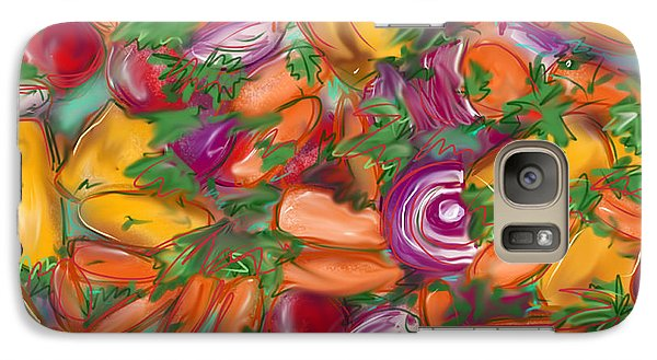Galaxy Case featuring the painting Eat Your Veggies by Jean Pacheco Ravinski
