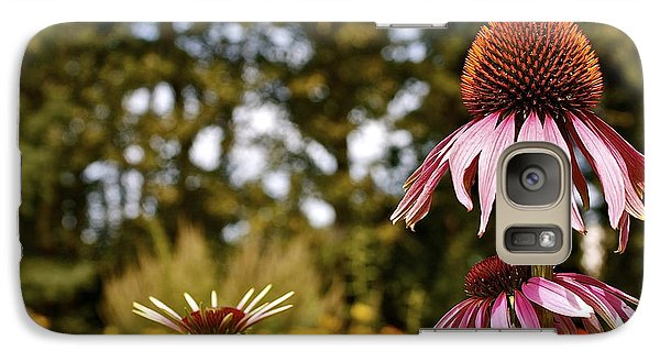 Galaxy Case featuring the photograph Echinacea With Bee by Linda Bianic