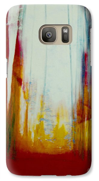 Galaxy Case featuring the painting Echo Of The Ancient Ones by Jeanette French