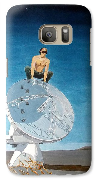 Galaxy Case featuring the painting Echoes by Lazaro Hurtado