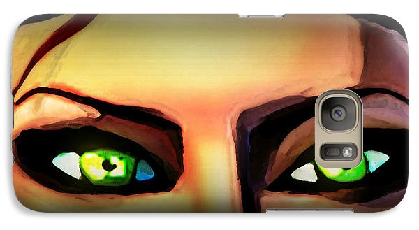 Galaxy Case featuring the painting Echo's Eyes by Persephone Artworks