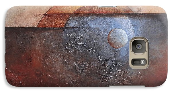 Galaxy Case featuring the painting Eclipse by Buck Buchheister