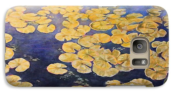 Galaxy Case featuring the painting Eco Park Lake by Andrew Danielsen