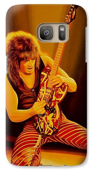 Eddie Van Halen Painting Galaxy Case by Paul Meijering