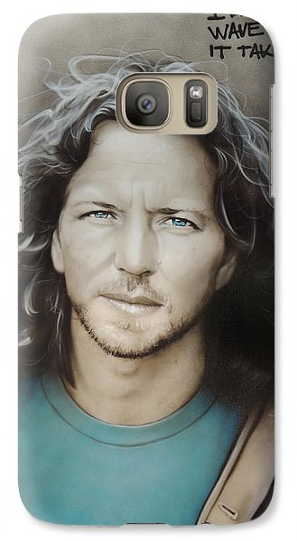 ' Eddie Vedder ' Galaxy Case by Christian Chapman Art