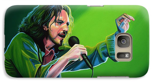 Eddie Vedder Of Pearl Jam Galaxy Case by Paul Meijering