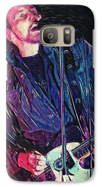 Neil Young Galaxy S7 Case - Eddie Vedder by Taylan Apukovska