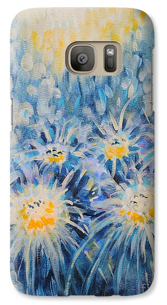 Galaxy Case featuring the painting Edentian Garden by Holly Carmichael