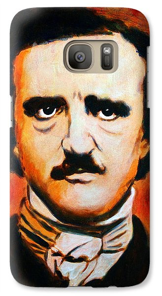 Galaxy Case featuring the painting Edgar Allan Poe by Bob Baker