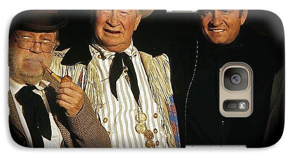 Galaxy Case featuring the photograph Edgar Buchanan Chills Wills  Johnny Cash Porch Old Tucson Arizona 1971-2008 by David Lee Guss