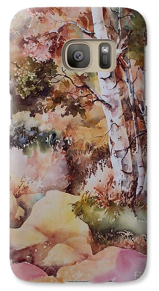Galaxy Case featuring the painting Edge Of The Forest by Marta Styk