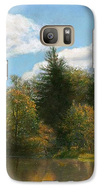 Galaxy Case featuring the painting Edge Of The Pond by Wayne Daniels