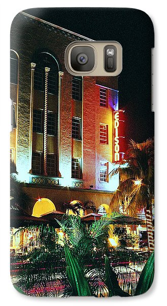 Galaxy Case featuring the photograph Edison Hotel Film Image by Gary Dean Mercer Clark
