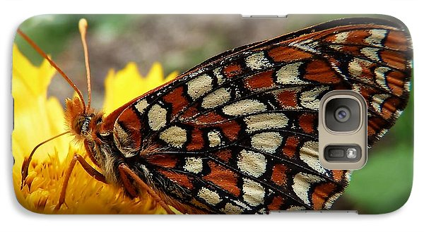 Galaxy Case featuring the photograph Edith Checkerspot by Julia Hassett