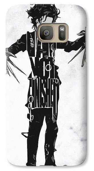 Edward Scissorhands - Johnny Depp Galaxy S7 Case by Ayse Deniz