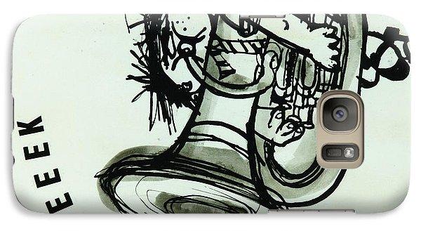 Trombone Galaxy S7 Case - Eeeeeeek! Ink On Paper by Brenda Brin Booker