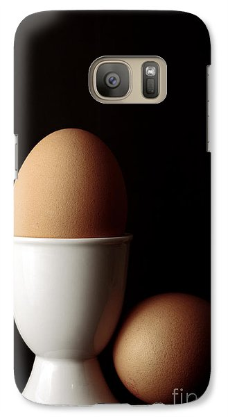 Galaxy Case featuring the photograph Eggs In Egg Cup by Craig B