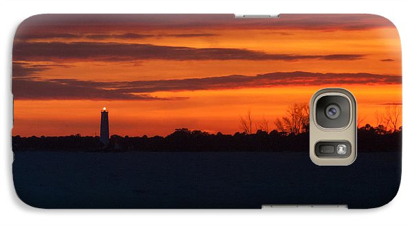 Galaxy Case featuring the photograph Egmont Key Lighthouse Sunset by Paul Rebmann
