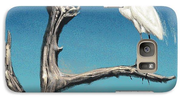 Egret Galaxy S7 Case - Egret by Aaron Blaise