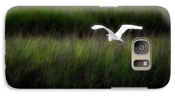 Galaxy Case featuring the photograph Egret At Pawleys Island by Frank Bright