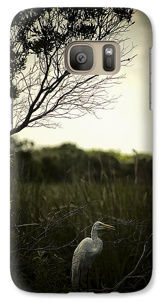 Galaxy Case featuring the photograph Egret At Sunset by Bradley R Youngberg