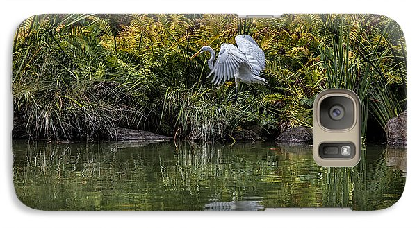 Galaxy Case featuring the photograph Egret At The Lake by Chris Lord
