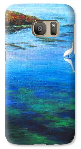 Galaxy Case featuring the painting Egret by Cheryl Del Toro