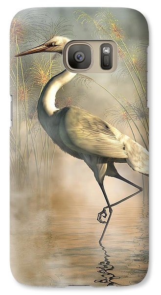 Stork Galaxy S7 Case - Egret by Daniel Eskridge
