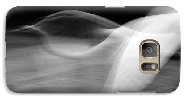 Galaxy Case featuring the photograph Egret Fantasy In Black And White by Anne Rodkin