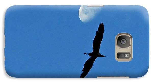 Galaxy Case featuring the photograph Egret Flight by Charlotte Schafer