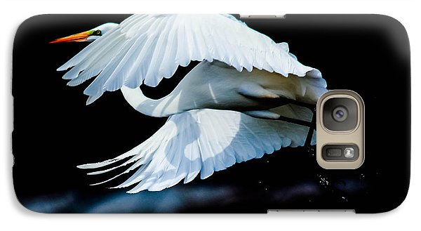 Galaxy Case featuring the photograph Egret In Flight by Kelly Marquardt