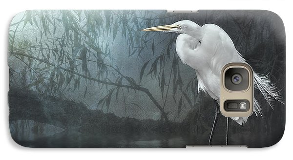 Galaxy Case featuring the photograph Egret In Moonlight by Brian Tarr