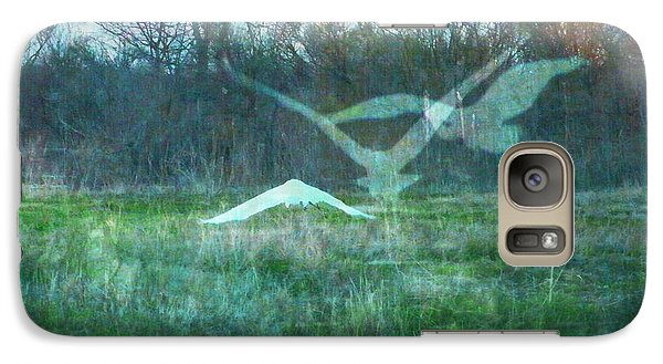 Galaxy Case featuring the digital art Egret In Retreat by Lizi Beard-Ward