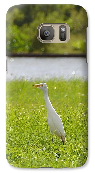Galaxy Case featuring the photograph Egret On The Green-no2 by Darla Wood