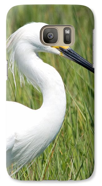 Galaxy Case featuring the photograph Egret In The Sound by Greg Graham