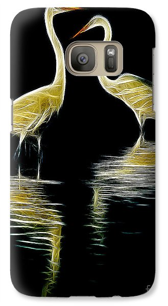 Galaxy Case featuring the photograph Egret Pair by Jerry Fornarotto