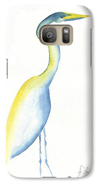 Galaxy Case featuring the painting Egret's Glance by Frank Bright