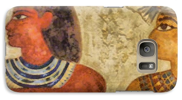 Galaxy Case featuring the painting Egypt Pharaohs by Georgi Dimitrov