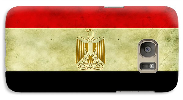 Galaxy Case featuring the digital art Egyptian Flag  by Mohamed Elkhamisy