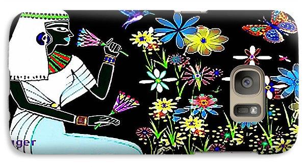 Galaxy Case featuring the digital art Egyptian Flower  Garden by Hartmut Jager