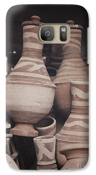 Galaxy Case featuring the photograph Egyptian Hand Made Traditional Bowl Of Cold Water by Mohamed Elkhamisy