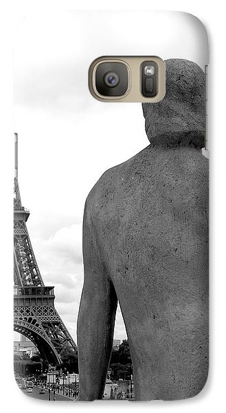 Galaxy Case featuring the photograph Eiffel Lady by Lisa Parrish