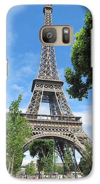 Galaxy Case featuring the photograph Eiffel Tower - 1 by Pema Hou